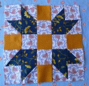 Mystery block 3 with civil war reproduction fabrics