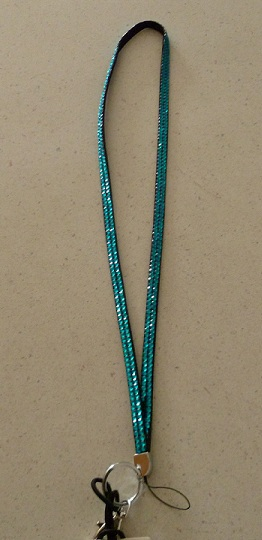 Sparkly blue lanyard
